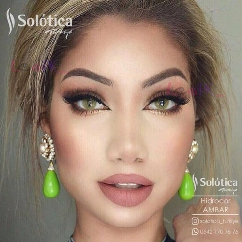 Buy Solotica Ambar Contact Lenses in Pakistan – Hidrocor - lenspk.com