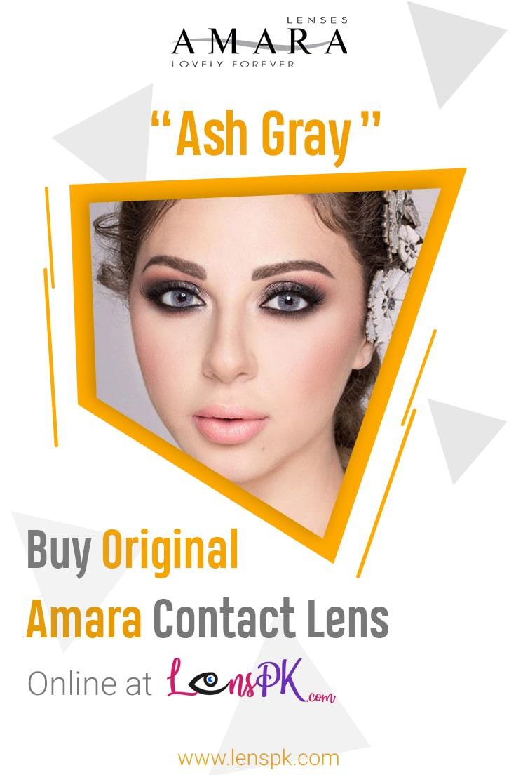 Amara Ash Gray Eye Contact Lenses