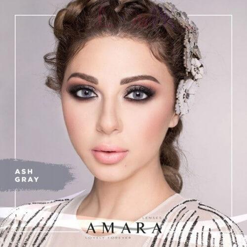 Buy Amara Ash Gray Eye Contact Lenses in Pakistan @ Lenspk.com