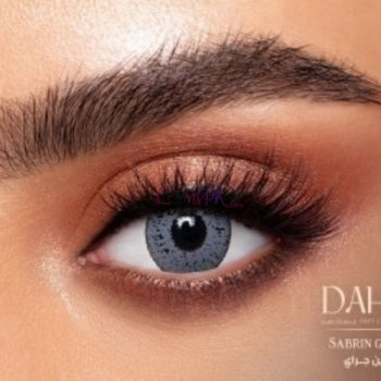 Buy Dahab Sabrin Gray Contact Lenses - Gold Collection - lenspk.com