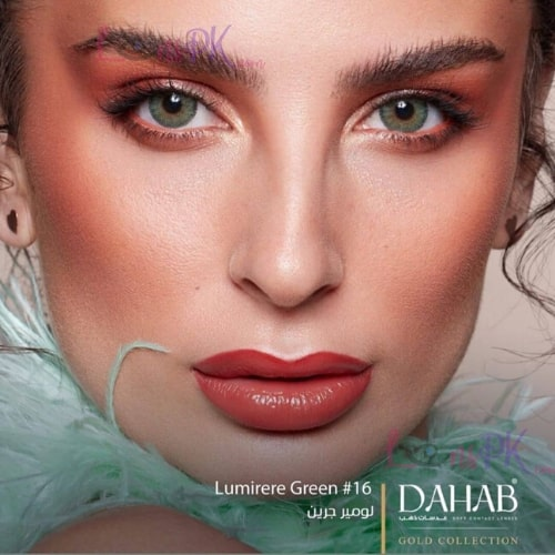 Buy Dahab Lumirere Green Contact Lenses in Pakistan – Gold Collection - lenspk.com