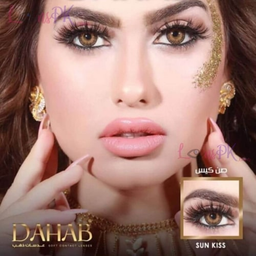 Buy Dahab Sun Kiss Contact Lenses in Pakistan – Gold Collection - lenspk.com