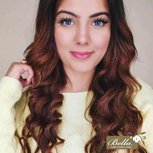 Buy Bella Natural Cool Blue Contact Lenses in Pakistan – Natural Collection - lenspk.com