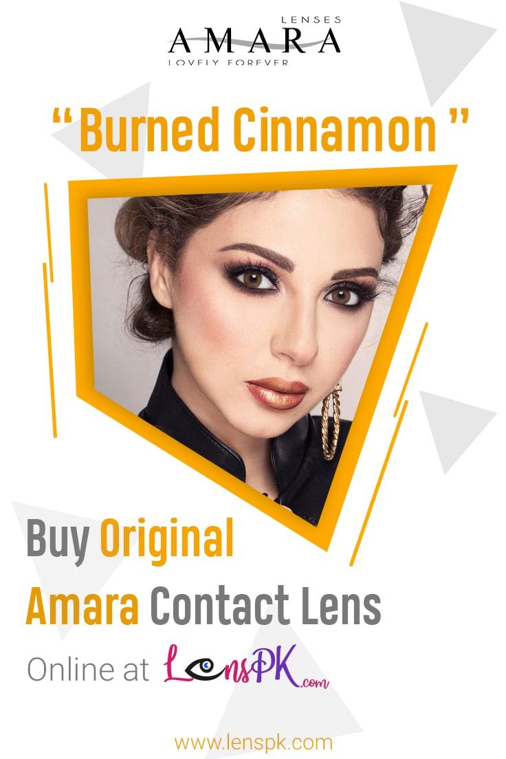 Amara Burned Cinnamon Eye Contact Lenses