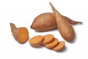 Sweet potatoes and slices
